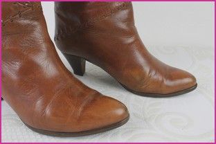Details about Vintage Boots France Arno Full Leather Brown T Shirt 37,5 be show original title